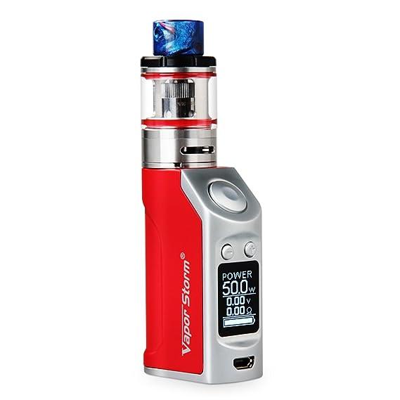 Vapor Storm® E-Cigarrillo Mini Caja Mod 50W OLED Muiti-Modo Vaporizador Kit de Inicio Vapor Recarga Superior Sub 0.5ohm Resistencia E-Cig Mod 1200mAh ...