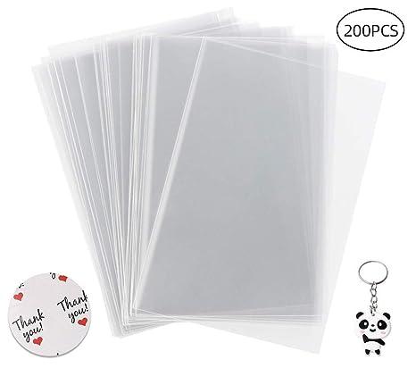 Yuanzi - Bolsa de plástico OPP Transparente, Bolsa de ...