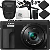 Panasonic Lumix DC-ZS70 Digital Camera (Black) 8PC Accessory Bundle – Includes 2x Replacement Batteries + AC/DC Rapid Home & Travel Charger + MORE - International Version (No Warranty)