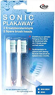 Sonic Plakaway Pack Of 2 Spare Toothbrush Heads For B091 B191 Duo And B291