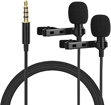 Tie mic Lapel clip microphone with 3.55mm jack