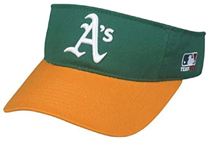 lowest price cdd87 7e429 Image Unavailable. Image not available for. Color  OC Sports Oakland  Athletics A s MLB Two Tone Golf Sun Visor Hat Cap ...