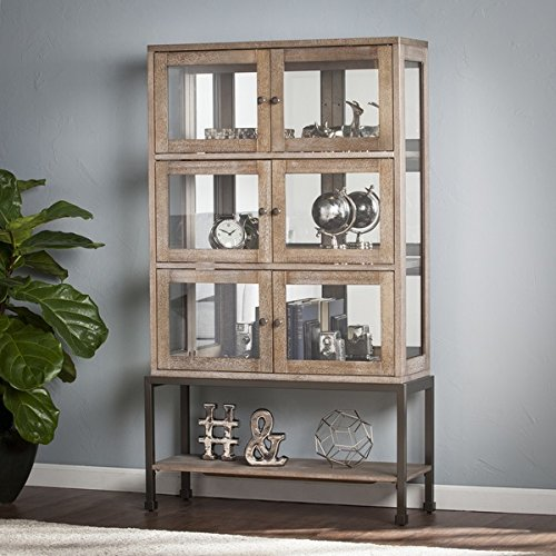 Harper Blvd Bellstrom Lighted Contemporary Curio Display Cabinet