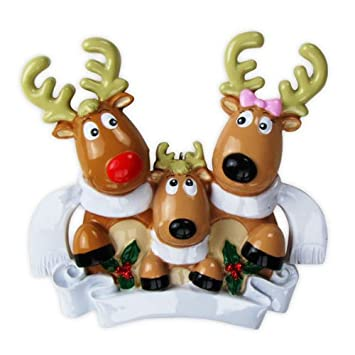 Amazon.com: Polar X Christmas Ornament Reindeer Family of 3 With ...