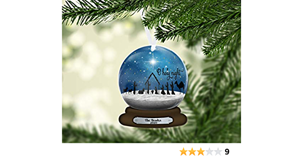Details about  /Gnome Snow Globe Christmas Ornament Baby/'s First Personalized Name Snowglobe
