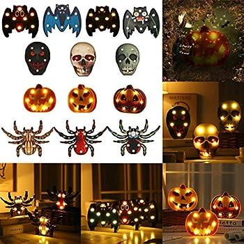 Amazon.com: Halloween luz nocturna – Beware Take Care ...