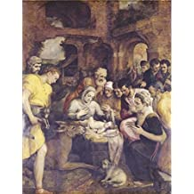 Oil painting 'Adoration of the Shepherds by Frans Floris I,1568' printing on high quality polyster Canvas , 20x26 inch / 51x66 cm ,the best Wall art gallery art and Home artwork and Gifts is this Beautiful Art Decorative Canvas Prints