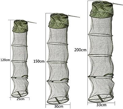 Folding Fish Net Fishing Care Creel Tackle Nylon Foldable Crab Trap Cast