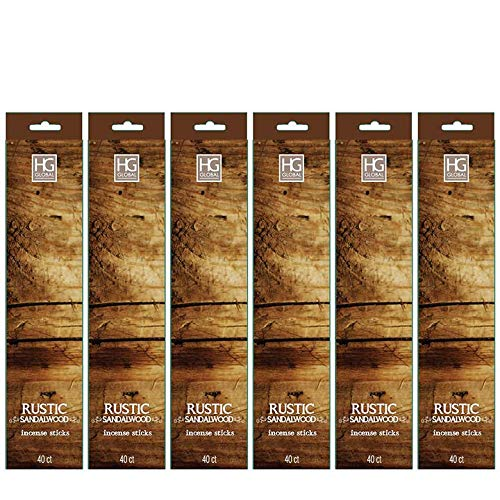 Hosley's 240 Incense Sticks/Approx. 240 gm. RUSTIC SANDALWOOD Highly Fragranced Incense Infused with Essential Oils. Ideal GIFT for Party Favour, Weddings, Spa, Reiki, Meditation, Bathroom Settings B00VTV6WJ2