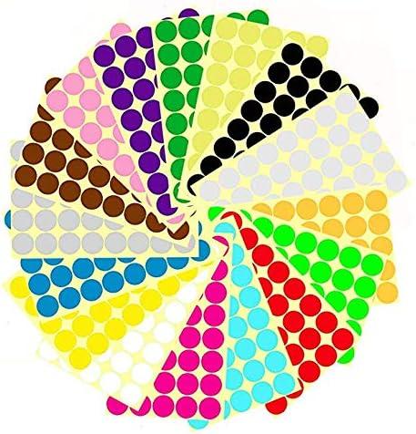 Pegatinas Redondas Colores de 16 mm,Etiquetas Adhesivas Redondas ...