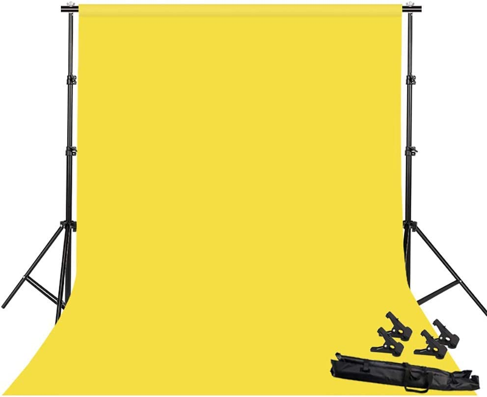 Color : Yellow Background Stand Video Photo Studio Background Backdrop Stand Kit,2x2m Photography Support System,Product Photography