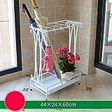 HYXYSJ Wrought Iron Umbrella Stand Hotel Lobby Home Creative Floor-Mounted rain Umbrella Placed Shelves (Color : Brown)