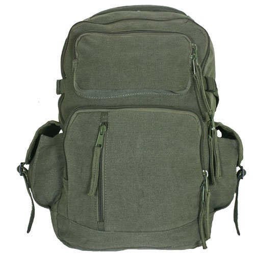 Fox Outdoor Products Retro Yukon Mountaineering Rucksack, Olive Drab (Outdoor Fox)
