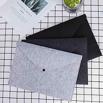 File Folders Envelope Documents Holders 3PCS Felt Expanding File Folder Durable Paper Briefcase Portfolio Case Letter A4 for Office School Stationery Student