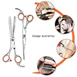 Chimocee-Professional-Hair-Scissors-65-Barber-and-Salon-Razor-Edge-Hair-Cutting-Shears-with-Fine-Adjustment-Tension-Screw-Stainless-Steel-Detachable-Finger-Rest-With-Black-Gift-Box