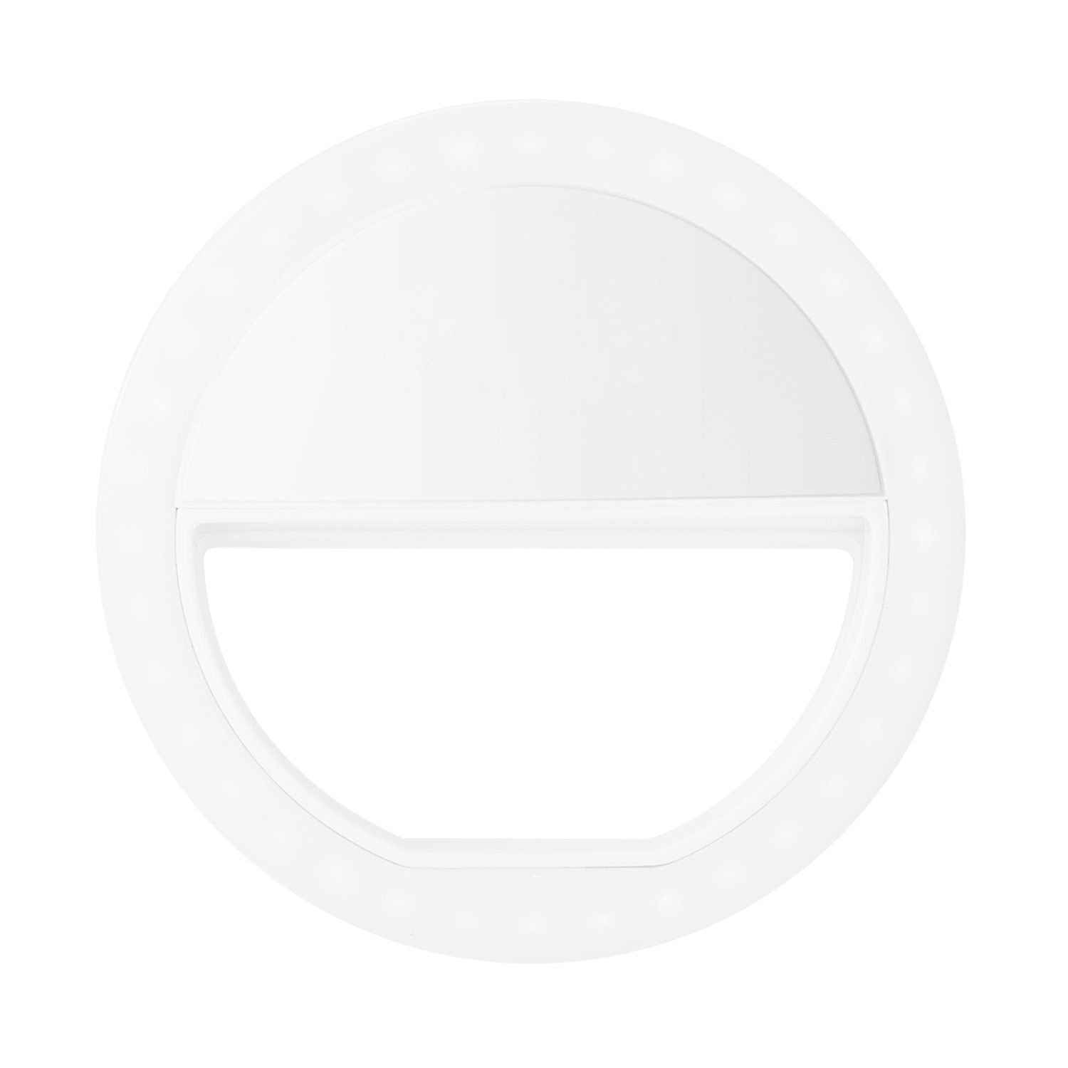 Selfie Ring Light, Portable Rechargeable 3-Level Brightness LED Beauty Fill in Ring Light Portable for Smartphone, Laptop (White) by Genuiskids (Image #2)