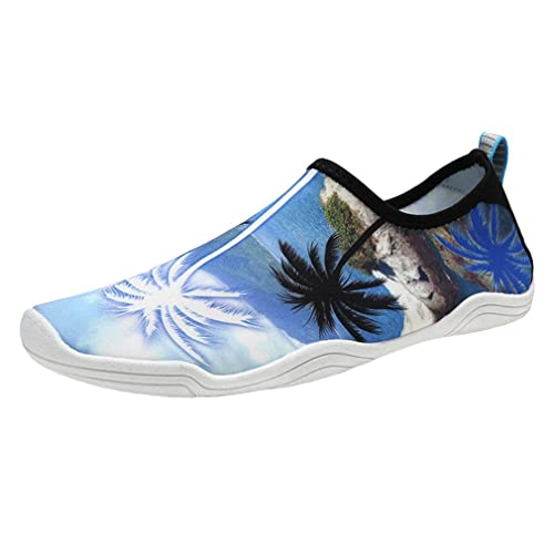 Unisex Descalzo Zapatos de Agua, Mujer Hombre Zapatos de Playa Escarpines para Surf Piscina Playa Yoga Deportes Acuáticos: Amazon.es: Zapatos y complementos
