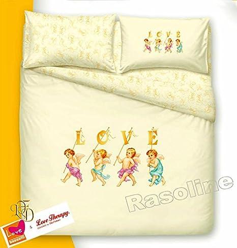 Copripiumino Love Therapy Bassetti.Bassetti Completo Copripiumino Love Therapy Fiorucci Angeli Una