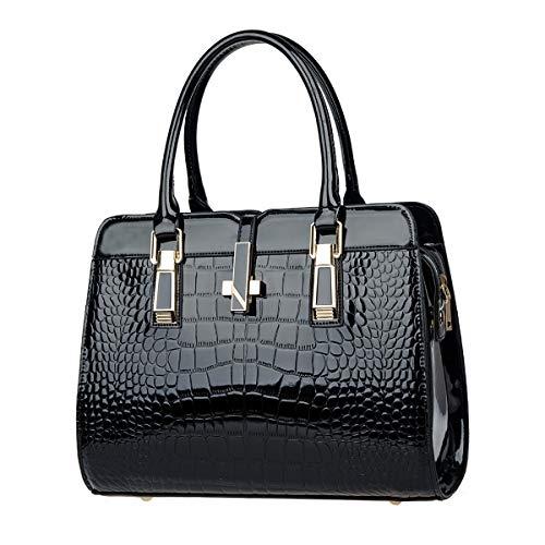 Tote in Exull Bag elegante da Borsa Handle Studente Borsa 1348 lavoro Pu nero Shopping a tracolla pelle Shopper Top donna Spalla AIw1xq4xP