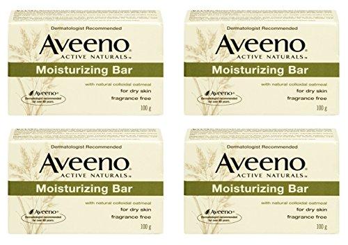- Aveeno Moisturizing Bar (Pack of 4) for Dry Skin - Fragrance Free