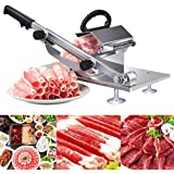 YOOYE Stainless Steel Manual Frozen Meat Slicer, Meat Cheese Food Slicer Vegetable Sheet Slicing Machine,Meat Cutter Beef Mutton Roll for Home Cooking Kit of Hot Pot Shabu Shabu (Frozen Meat Slicer)