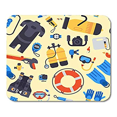 Nakamela Mouse Pads Body Activity Spearfishing Scuba Diving Underwater Sea Diver Equipment Professional Tools Balloon Camera Mouse mats Mouse pad Suitable for Notebook Desktop Computers