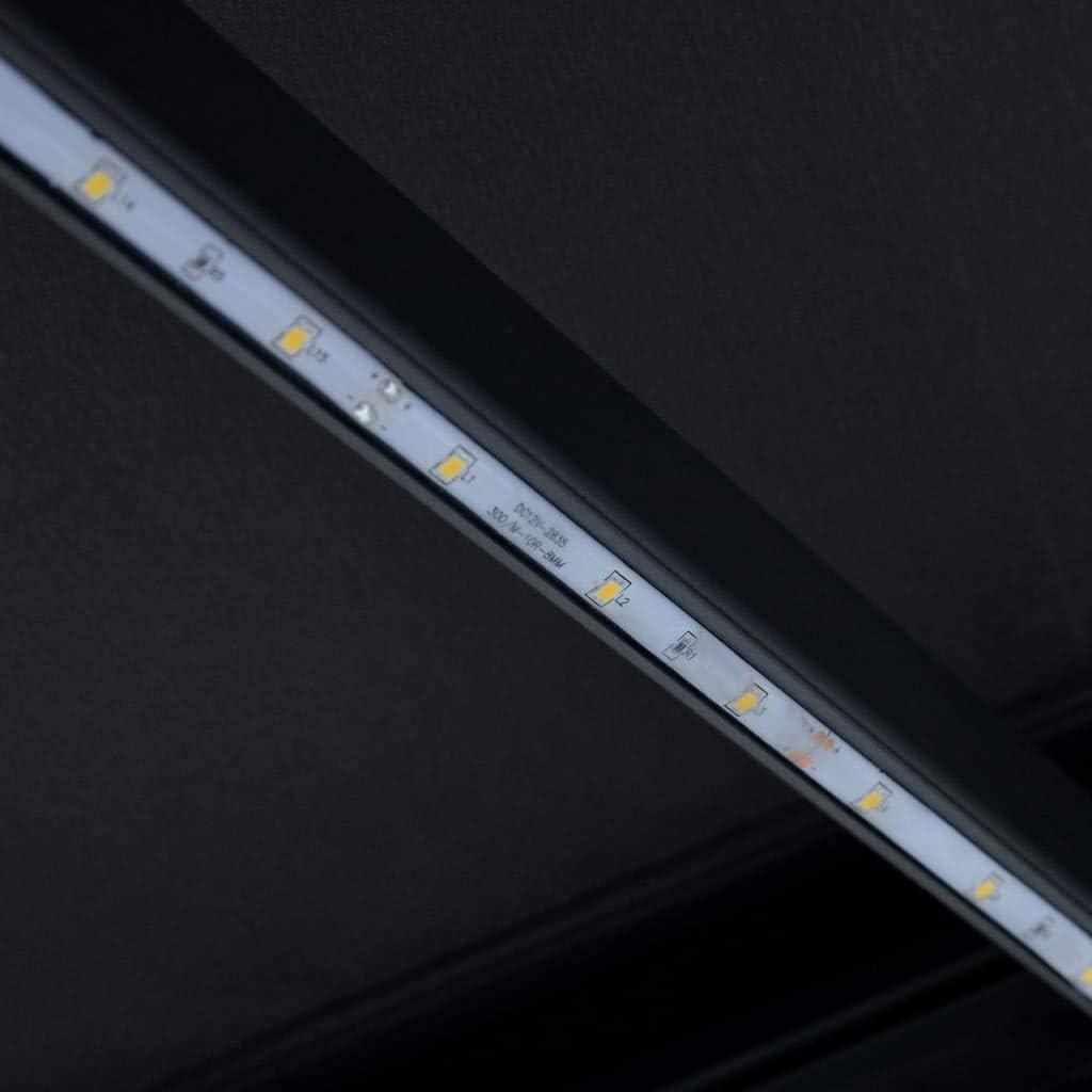 Toldo Terraza Toldo de Exterior Toldo de Patio Toldo Impermeable Balcon Benkeg Toldo Manual Retr/áctil Gris Antracita 400x300 cm Repele el Agua y la Suciedad Jard/ín