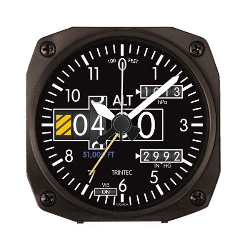 Trintec 2060 Series NV Aviation Altimeter Altitude Travel Alarm Clock 3.5 Sq