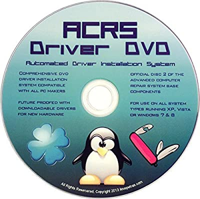 ACRS Disc #2 Universal Driver DVD for All Version of Windows 10, 8, 7, Vista, XP