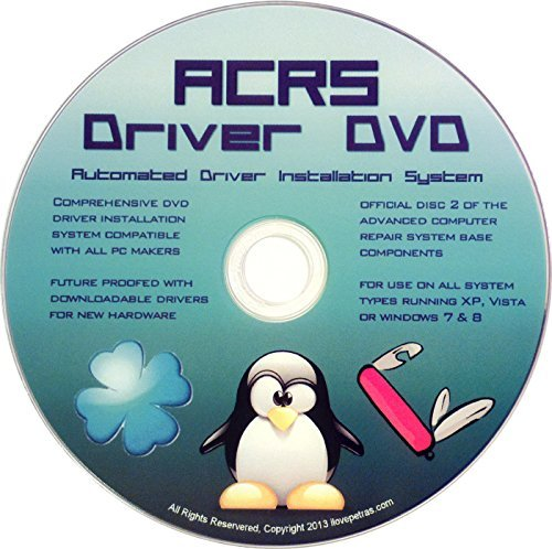 Panasonic Vista Laptops - ACRS Disc #2 Universal Driver DVD for All Version of Windows 10, 8, 7, Vista, XP