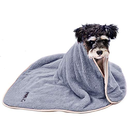 (PAWZ Road Dog Blanket Fluffy Skin-Friendly and Warm,Double-Sided,No Shedding for Cats Dogs and Small Animals Grey)