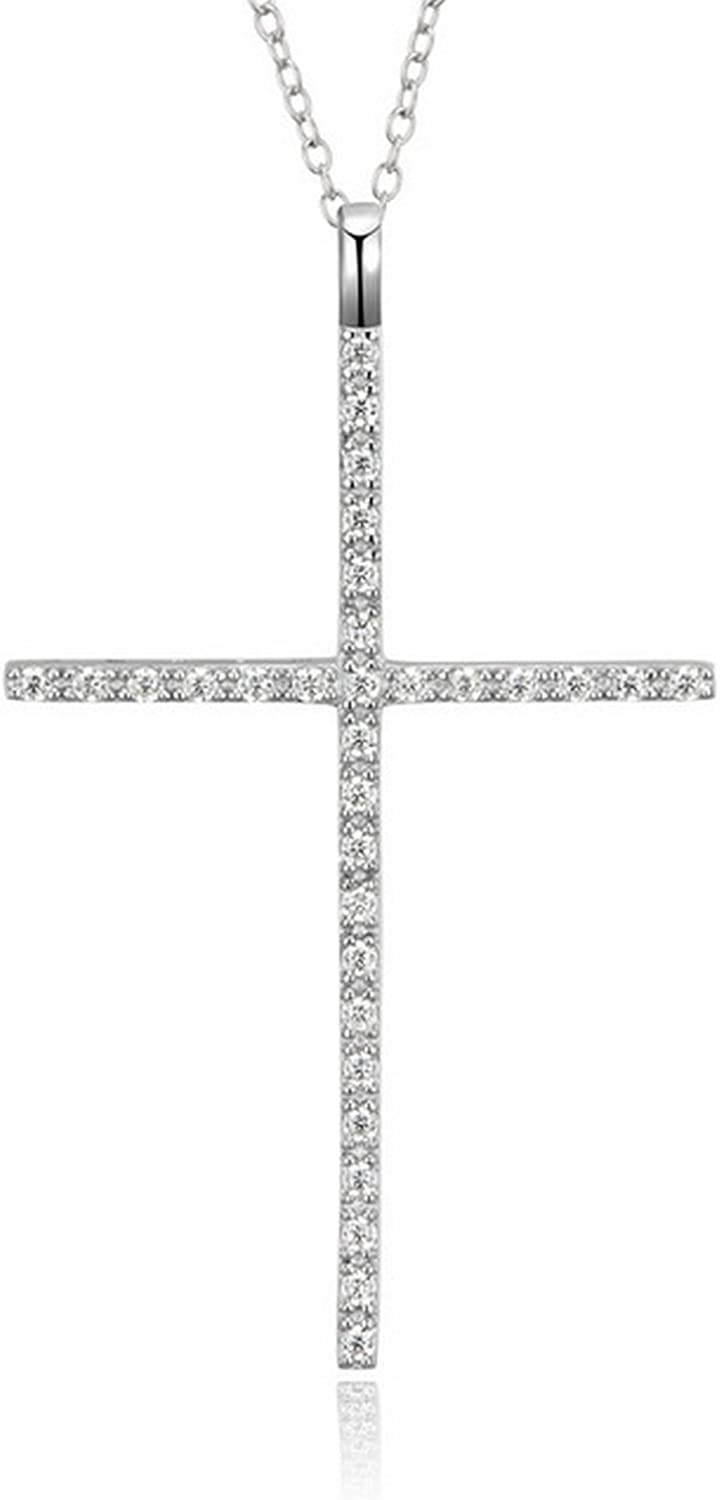 CS-DB Pendants Cross Statement Gift Silver Necklaces