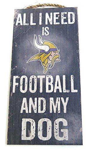 (Minnesota Vikings, Wall Decor, Dog Sign, NFL ,