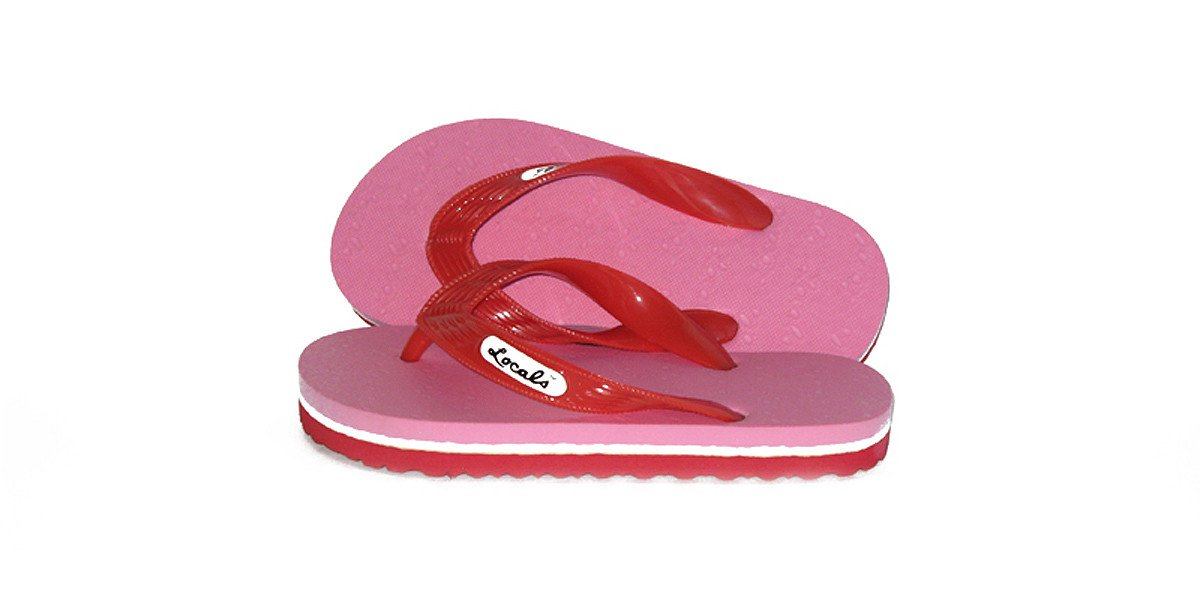 Locals Pink Youth Slipper - Size 8.0'' inches
