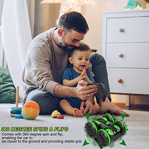 RC Car Amphibious Remote Control Car Remote Control Boat,2.4Ghz 4 wheel drive Off Road Rock Double Sided 360° Rotating Crawler Hobby RC Truck Toy Gifts for six 7 8+ Year Old Girls Boys Teens Aadults