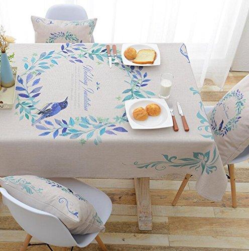 Tao Tischdecke Square Esstisch Tuch pastoralen Druck Wasserdichte Tischdecke (Farbe   E, größe   55.1  55.1inch) B07CVGBWNF Tischdecken Elegant und feierlich     | Kunde zuerst