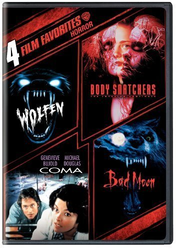 4 Film Favorites: Horror (Bad Moon, Body Snatchers, Coma, Wolfen) by Warner Home Video by Michael Wadleigh, Eric Reed, Abel Ferrera Michael Crichton by Warner Manufacturing