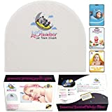 LilSlumber Baby Bassinet and Crib Reflux Wedge Pillow | Infant Sleep Positioner for GERD and Nasal Congestion Relief | Premium Hypoallergenic Cotton and Waterproof Covers | 3 Parenting EBooks
