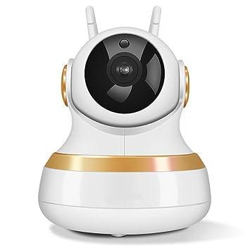 Cámara de seguridad inalámbrica panorámica WIFI, cámara de vigilancia doméstica inteligente con visión nocturna HD