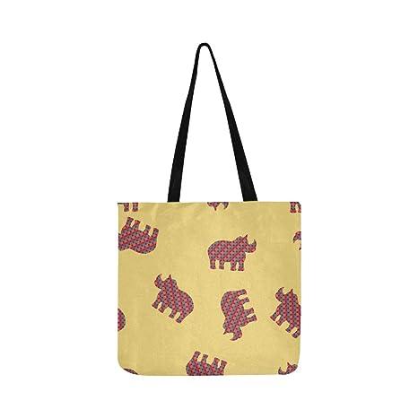 Cute Rhinoceros Girl Cartoon Canvas Tote bolso bandolera ...