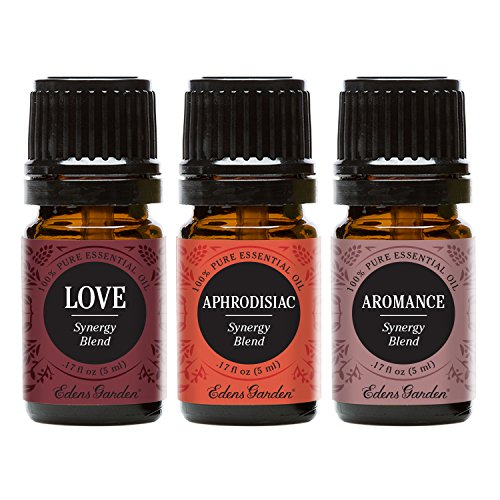 Edens Garden Aromance, Aphrodisiac & Love Essential Oil Synergy Blend, 100% Pure Therapeutic Grade (Highest Quality Aromatherapy Oils), 5 ml Value Pack