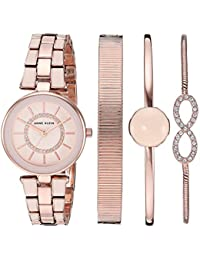 Women's AK/3286LPST Swarovski Crystal Accented Blush Pink and Rose Gold-Tone Watch and Bracelet Set