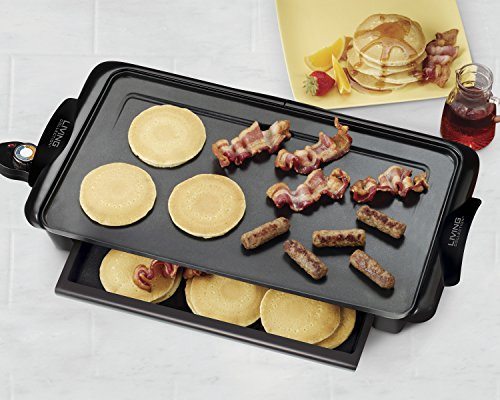 082677204004 - Nostalgia NGD200 Living Collection Extra-Large Non-stick Griddle with Cool Touch Handles and Warming Drawer carousel main 3