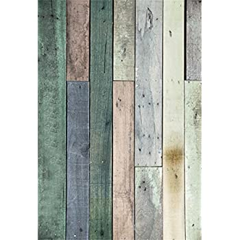 5X7FT Laeacco Vinyl Backdrop Photography Background Wall Plank Scene Faded Blue Whitish Wood Floor Backdrops for Photo Studio Props 1.5x2.2M