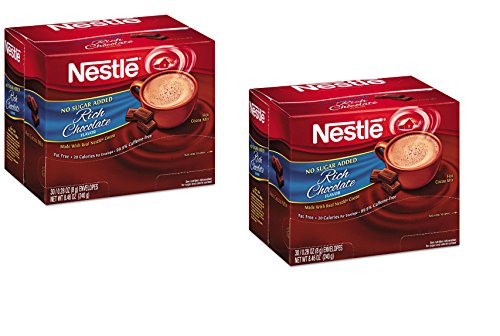 Nestle Cocoa Mix No Sugar Added 60 Count .28 Oz Packets (2-30 ct boxes) (Original ()