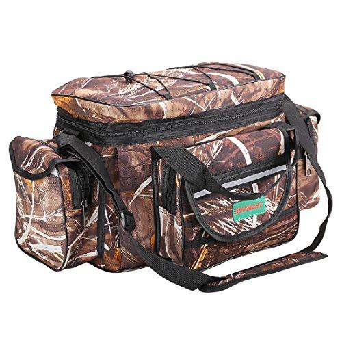 SeaKnight SK003 Fishing Bag Large Single Shoulder Fishing Tackle Bags Multifunctional Sport Fishing Tackle Bag Outdoor Hiking Fishing Climbing Sport Bag For Sale