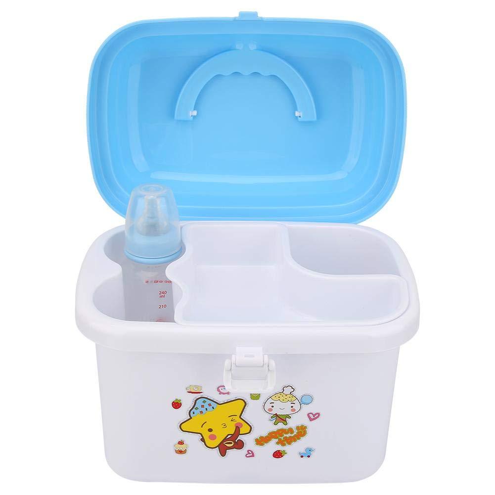 tragbares Ablagetablett f/ür Kinder W/äscheleine mit Staubschutz Baby Geschirr Organizer f/ür die K/üche zu Hause Flaschenbox Rosa