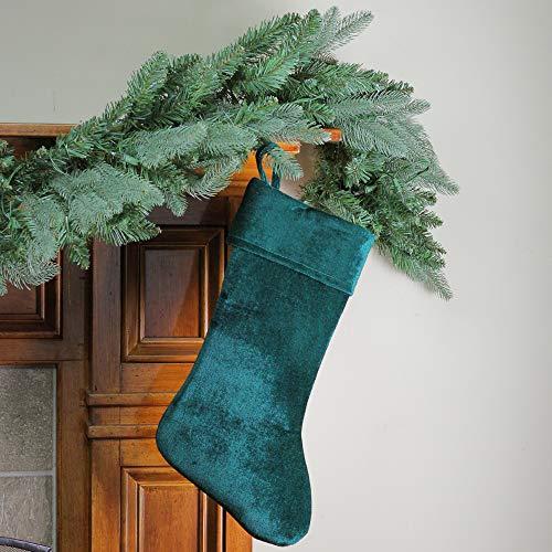 Green Velvet Christmas Stocking - NORTHLIGHT 530004GO 19