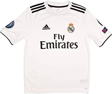 adidas Real EU H JSY Youth Camiseta 1ª Equipación Real Madrid ...