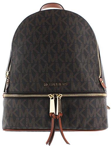 MICHAEL Michael Kors Rhea Zip Medium Leather Backpack, Brown